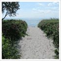 Strandaufgang mit Blick auf Ostsee